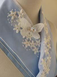 桜とバタフライの半衿